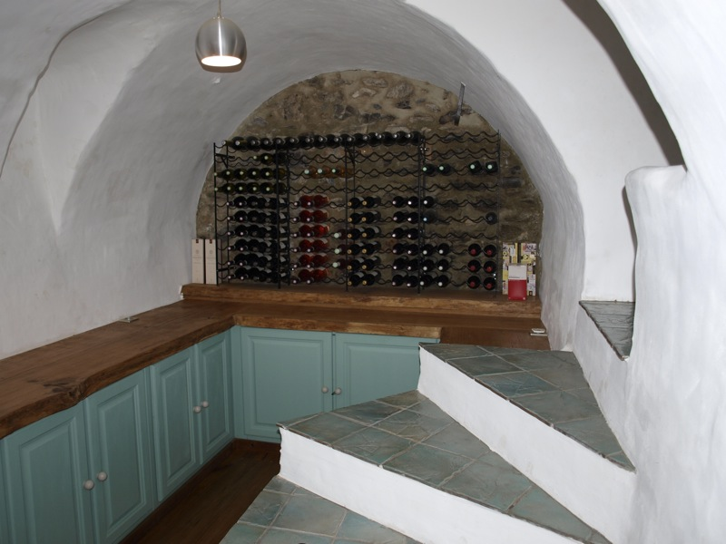 Wine Cave design for Alpine Chalets